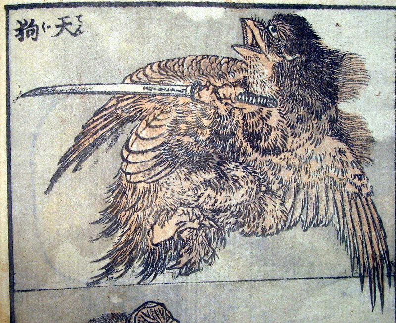 Drawing Of A Tengu by Katsushika Hokusai (1760-1849, Japan) | ArtsDot.com