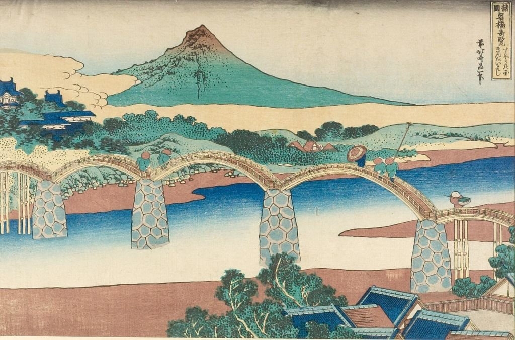 Famous Briges by Katsushika Hokusai (1760-1849, Japan) | Oil Painting | ArtsDot.com