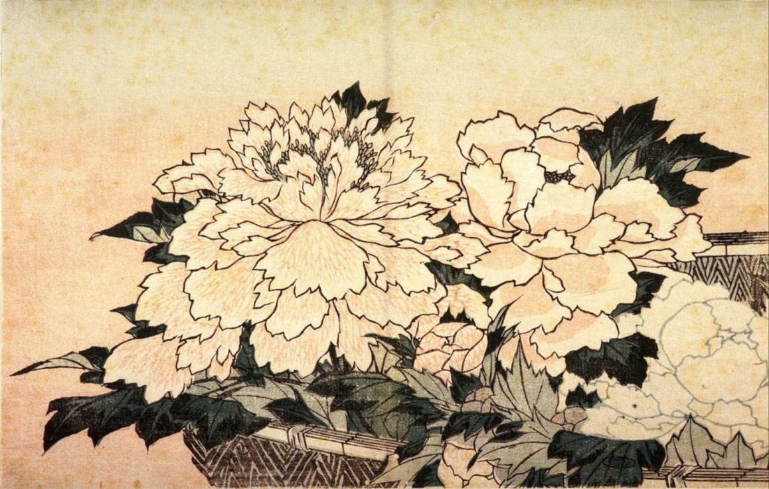 Flowers by Katsushika Hokusai (1760-1849, Japan) | Museum Quality Reproductions | ArtsDot.com