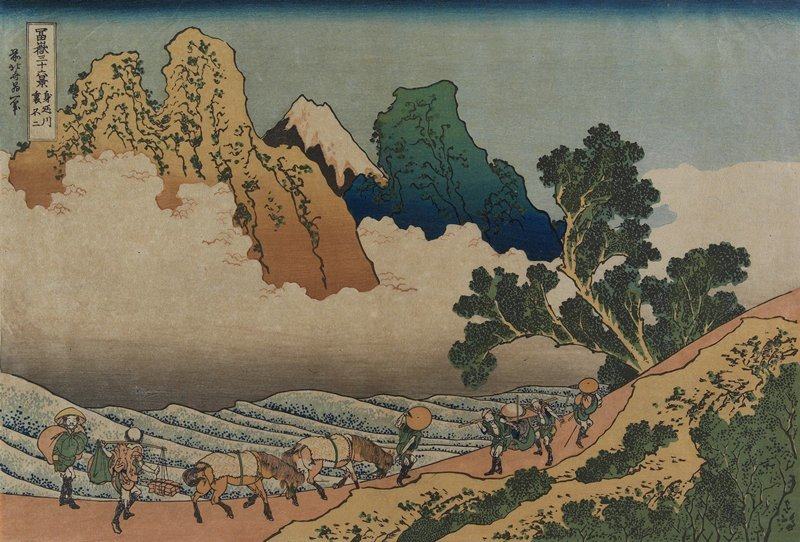 Fuji Behind Minobu River by Katsushika Hokusai (1760-1849, Japan) | Art Reproduction | ArtsDot.com