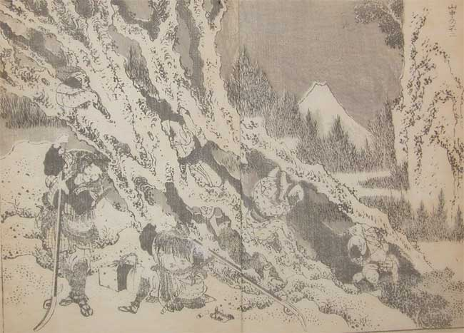 Fuji In The Mountains by Katsushika Hokusai (1760-1849, Japan) | Painting Copy | ArtsDot.com