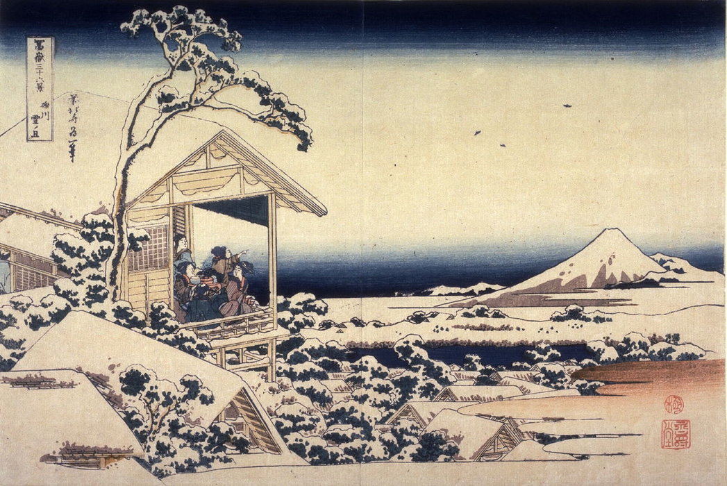 Fuji On A Snowy Morning From Koishikawa by Katsushika Hokusai (1760-1849, Japan) | ArtsDot.com