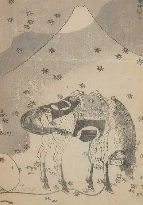 Mt.Fuji In The Field by Katsushika Hokusai (1760-1849, Japan) | Painting Copy | ArtsDot.com