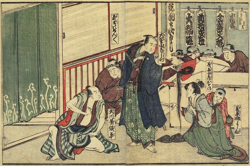 Osono Offering Her Hair by Katsushika Hokusai (1760-1849, Japan) | Museum Quality Reproductions | ArtsDot.com
