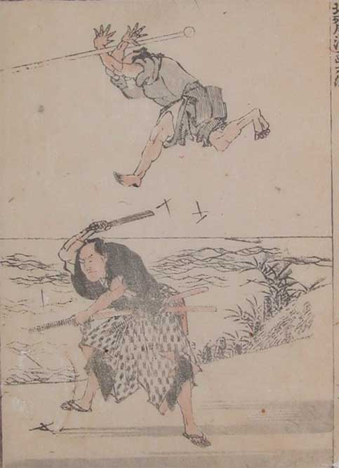Study Of Martial Arts by Katsushika Hokusai (1760-1849, Japan) | Museum Quality Reproductions | ArtsDot.com