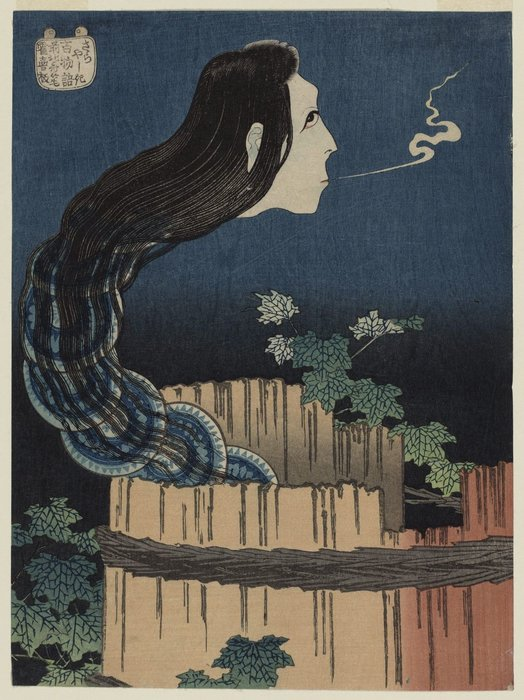 The Mansion Of The Plates by Katsushika Hokusai (1760-1849, Japan) | ArtsDot.com