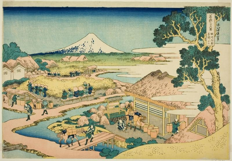 The Tea Plantation Of Katakura In Suruga Province by Katsushika Hokusai (1760-1849, Japan)