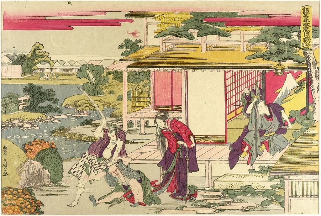 Treasury Of Loyal Retainers by Katsushika Hokusai (1760-1849, Japan)