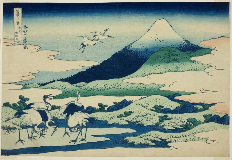 Umezawa Marsh In Sagami Province by Katsushika Hokusai (1760-1849, Japan) | Museum Art Reproductions | ArtsDot.com