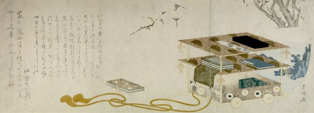 Wheeled Writing Table by Katsushika Hokusai (1760-1849, Japan) | ArtsDot.com