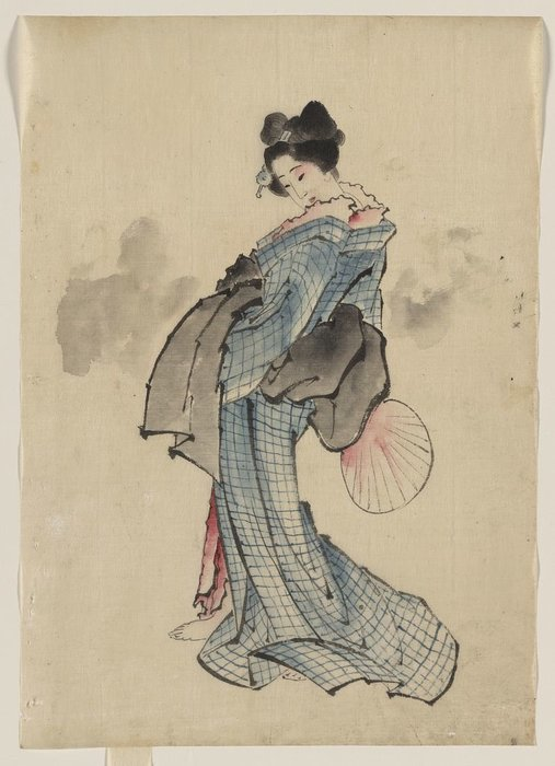 Woman, Full-length Portrait by Katsushika Hokusai (1760-1849, Japan) | ArtsDot.com