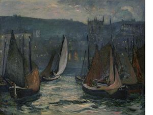Richard Hayley Lever - Harbor Scene