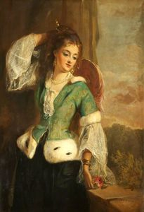 Philip Richard Morris - Portrait Of A Lady In A G..