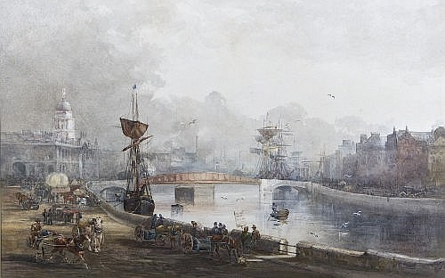 A View Of Butt Bridge by Rose Maynard Barton (1856-1930, Ireland)