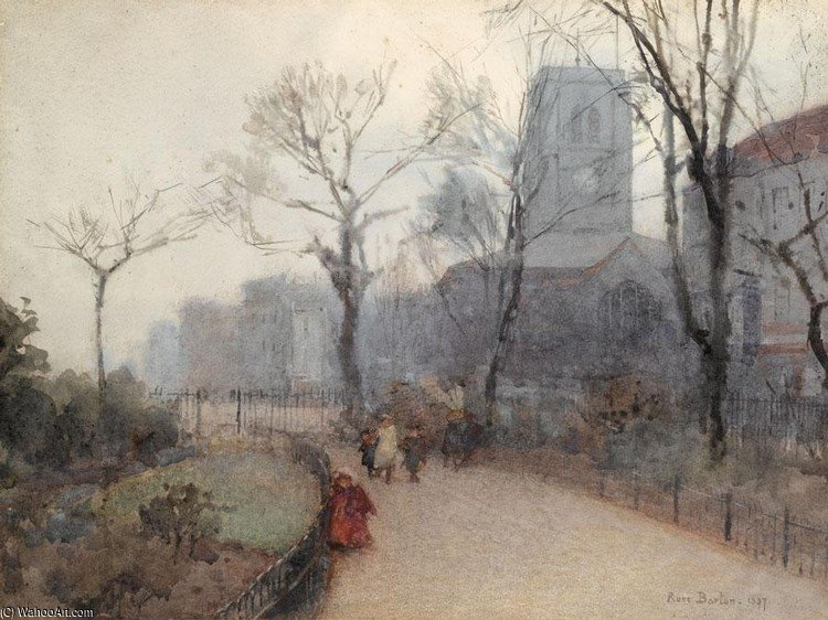 Old Chelsea Church by Rose Maynard Barton (1856-1930, Ireland) | ArtsDot.com