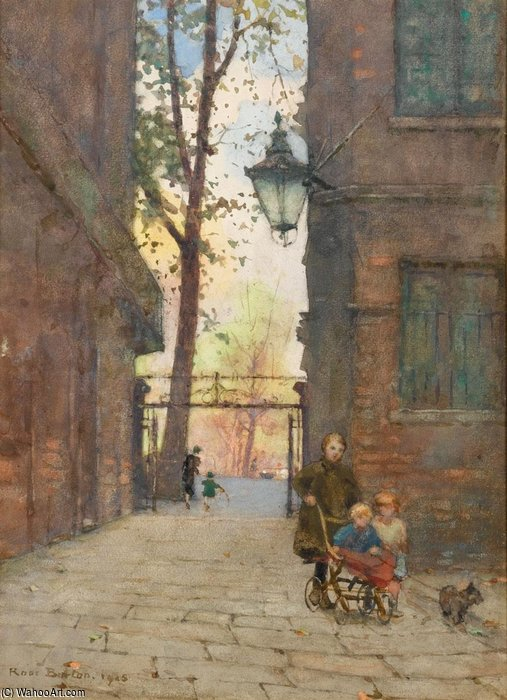 Park Place, St James`s by Rose Maynard Barton (1856-1930, Ireland) | Museum Art Reproductions | ArtsDot.com