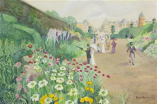 Sunday In The Gardens by Rose Maynard Barton (1856-1930, Ireland)