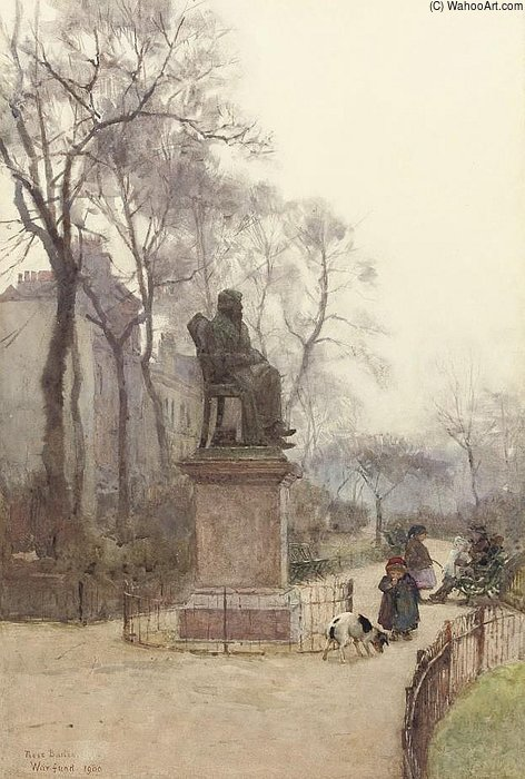 The Carlyle Statue by Rose Maynard Barton (1856-1930, Ireland)