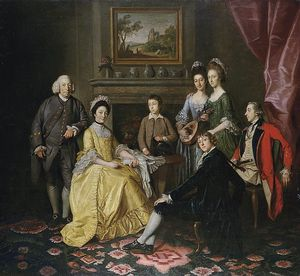 Nathaniel Dance-Holland - Portrait Of Sir James And Lady Hodges And Their Family