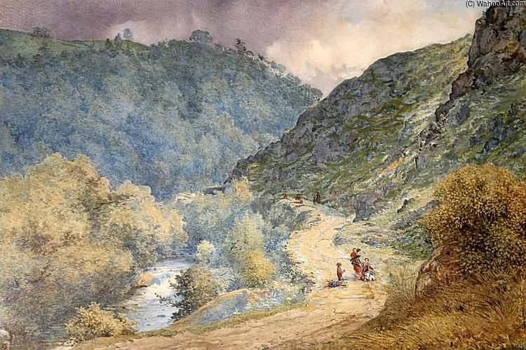 On The Dolwyddelan Road by Thomas Collier (1620-1691, United Kingdom)
