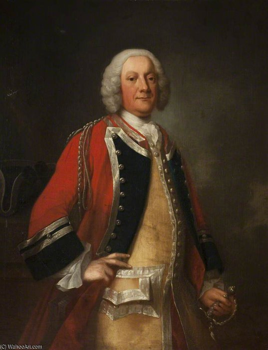 Lieutenant Colonel George Walsh by Thomas Frye (1710-1762, Ireland)