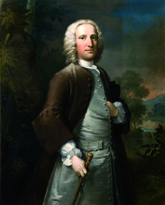 Sir Peter Thompson by Thomas Frye (1710-1762, Ireland)