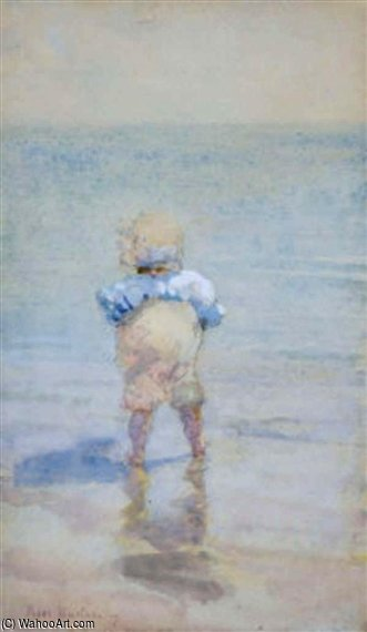 A Toddler Paddling At Ramsgate by Rose Maynard Barton (1856-1930, Ireland)