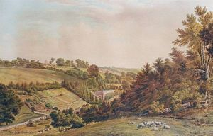 Thomas Collier - A Hilly Landscape With A Churc..