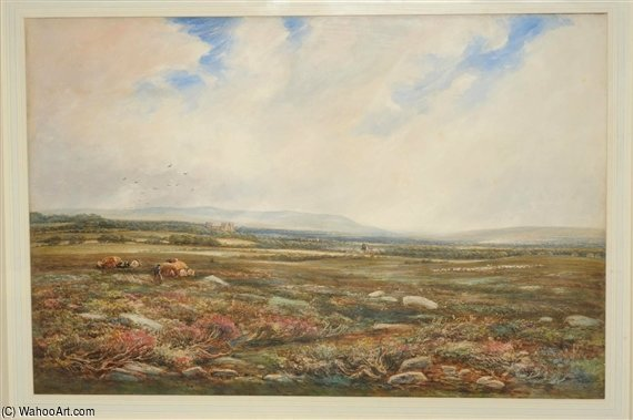 Castle Bolton With Wensleydale Beyond by Thomas Collier (1620-1691, United Kingdom)