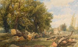 Thomas Collier - Storing Timber Near Arundel