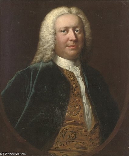 Portrait Of Henry Crispe Of Catton by Thomas Frye (1710-1762, Ireland)