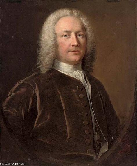 Portrait Of Thomas Crispe by Thomas Frye (1710-1762, Ireland)