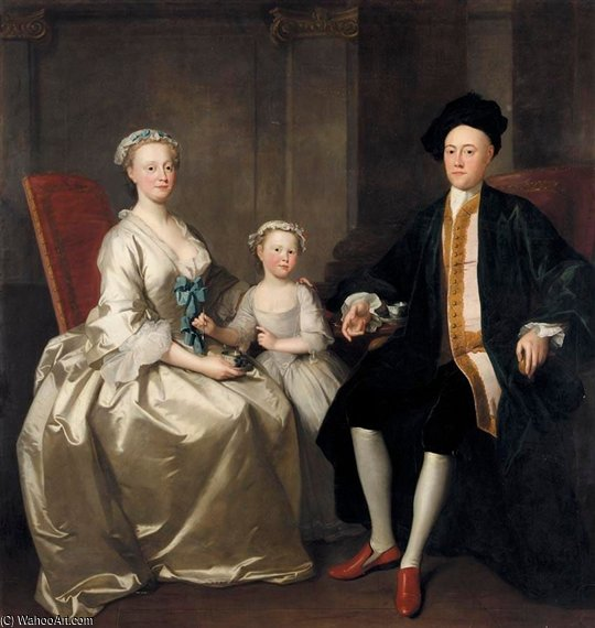 The Waldron Family by Thomas Frye (1710-1762, Ireland)