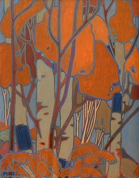 Buy Museum Art Reproductions | Decorative Panel (iii) by Thomas Thompson (1877-1917, Canada) | ArtsDot.com