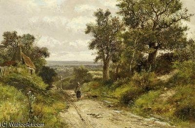 On The Forest Trail by Abraham Hulk Senior (1813-1897, Netherlands) | Museum Quality Reproductions | ArtsDot.com