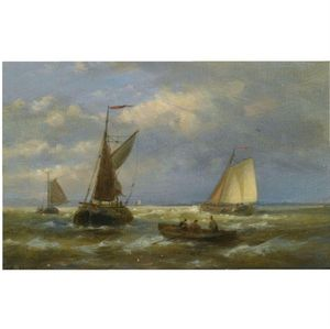Abraham Hulk Senior - Sailing Vessels At Sea