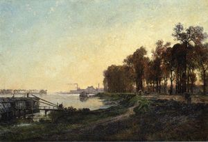 Alexandre Rene Veron - Beside The River