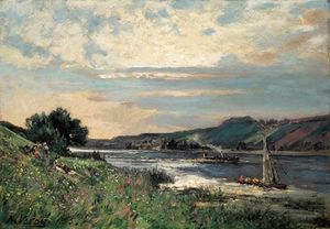 Alexandre Rene Veron - Sunday By The Shore