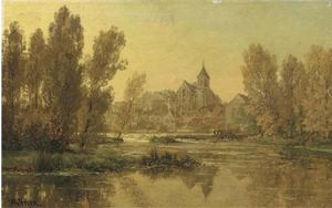 Alexandre Rene Veron - View On The Church Of Mon..