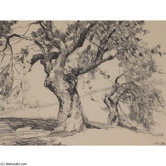 Apple Tree by Alfred Heber Hutty (1877-1954, United States) |  | ArtsDot.com