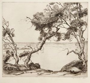 Alfred Heber Hutty - Coastal Trees