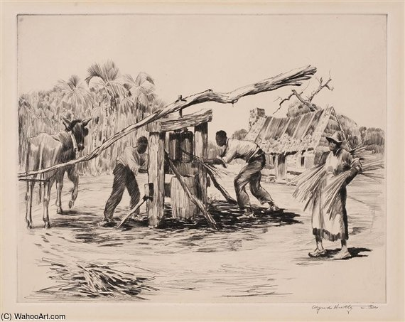 Grinding Sugar Cane by Alfred Heber Hutty (1877-1954, United States) |  | ArtsDot.com