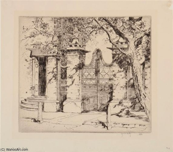 Smyth Gate by Alfred Heber Hutty (1877-1954, United States) |  | ArtsDot.com