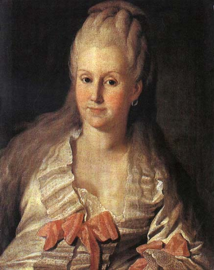 Portrait Of Anna Andreyevna Muravyova by Carl Ludwig Johann Christineck (1732-1794, Germany) | Museum Quality Reproductions | ArtsDot.com