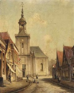 Cornelis Christiaan Dommelshui.. - A View Of The Kerkstraat In Al..