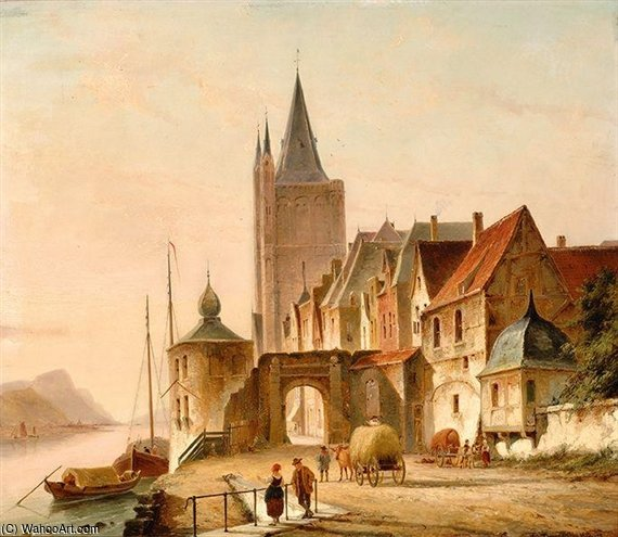 The City Gate by Cornelis Christiaan Dommelshuizen (1842-1928, Netherlands)