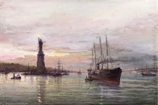 The Statue Of Liberty by Cornelis Christiaan Dommelshuizen (1842-1928, Netherlands)