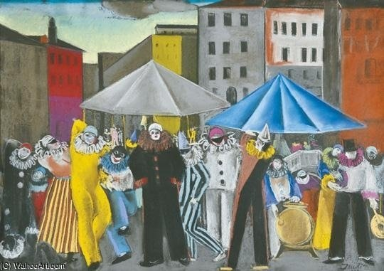 Circus by David Jandi (1893-1944, Hungary) | Painting Copy | ArtsDot.com