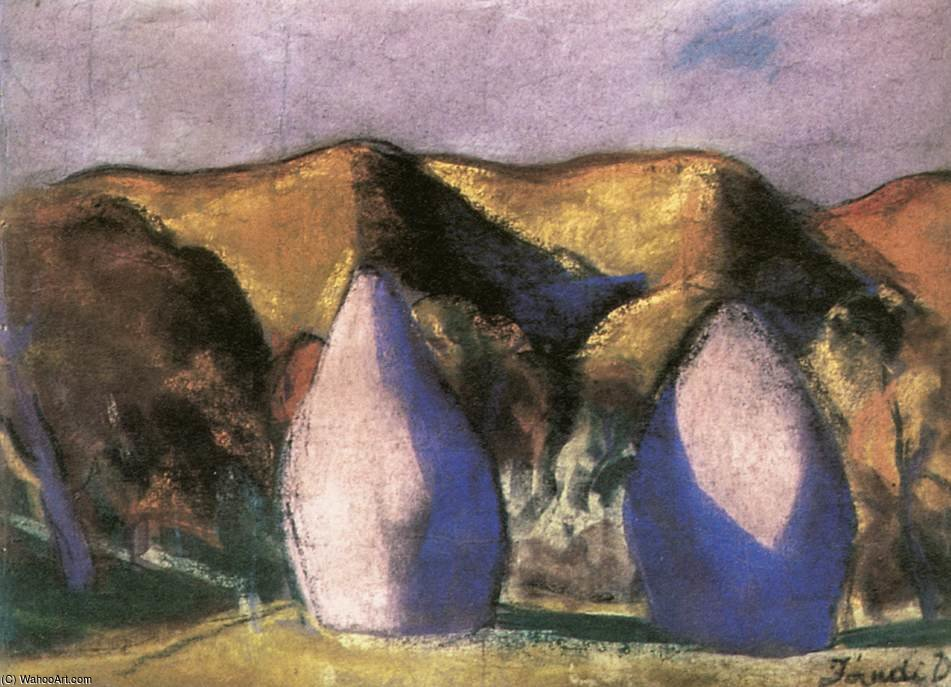 Haystacks, by David Jandi (1893-1944, Hungary)