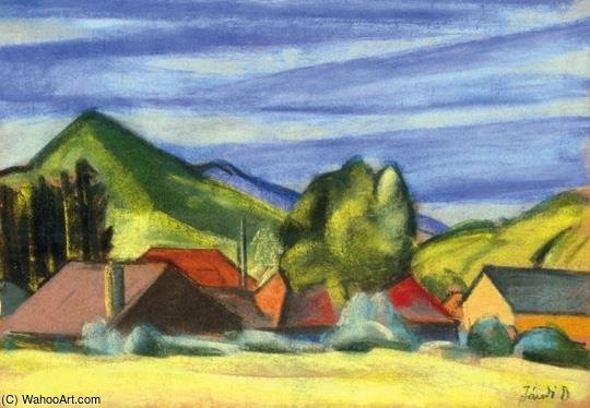 In The Mountains by David Jandi (1893-1944, Hungary) | Museum Art Reproductions | ArtsDot.com